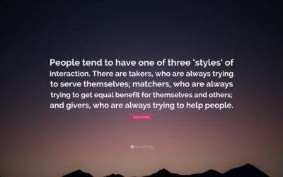 Is Your Financial Advisor a Giver, Taker, or Matcher?